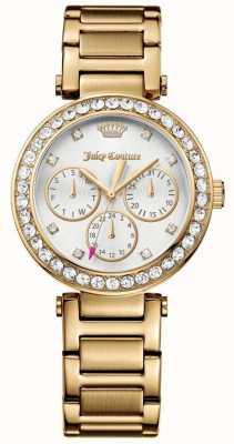 Juicy Couture Dames cali gold tone roestvrij stalen witte wijzerplaat 1901504