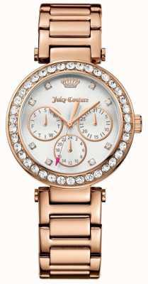 Juicy Couture Womens cali rose goud tone roestvrij staal zilverkleurige wijzerplaat 1901505