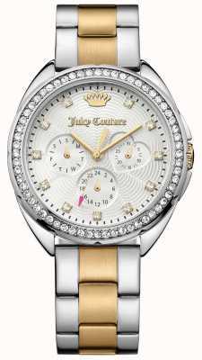 Juicy Couture Vrouwen capri two tone roestvrij stalen armband zilveren wijzerplaat 1901481