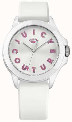 Juicy Couture Womens fergie witte rubberen band witte wijzerplaat 1901464