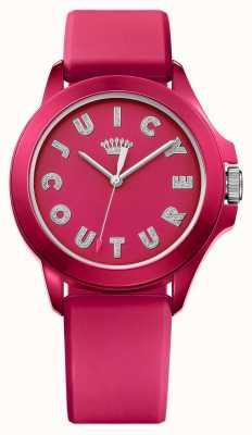 Juicy Couture Womens fergie roze rubberen band roze wijzerplaat 1901465