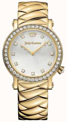 Juicy Couture Vrouwen la luxe goudkleurig roestvrij staal zilverkleurige wijzerplaat 1901488