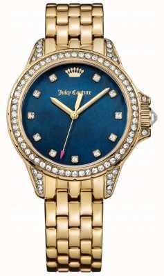 Juicy Couture Vrouwen malibu goud toon roestvrij staal blauw parelmoer 1901492
