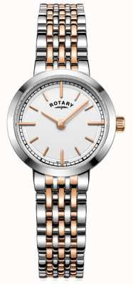 Rotary Womens canterbury two tone witte wijzerplaat LB05061/02