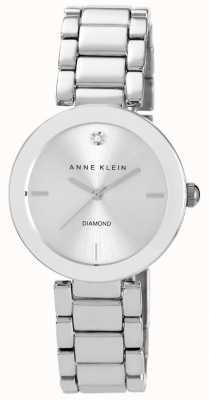 Anne Klein Vrouwen roestvrijstalen armband zilveren wijzerplaat AK/N1363SVSV