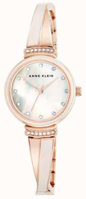 Anne Klein Vrouwen roos gouden toon armband Moeder van parel wijzerplaat AK/N2216BLRG