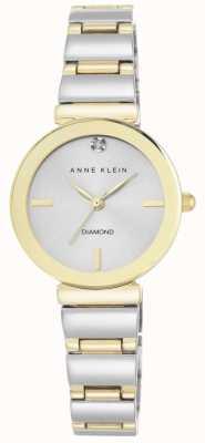 Anne Klein Vrouwen twee toon armband zilveren wijzerplaat AK/N2435SVTT