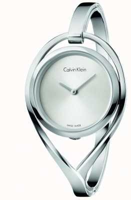 Calvin Klein Vrouwen licht medium roestvrij staal zilverkleurige zilveren wijzerplaat K6L2M116