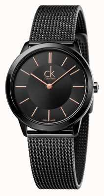 Calvin Klein Vrouwen minimale zwarte mesh band K3M22421