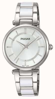 Pulsar Womans roestvrij staal en wit horloge PH8191X1