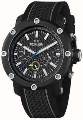TW Steel Mens zwart rubberen band zwarte wijzerplaat chronograaf TW937