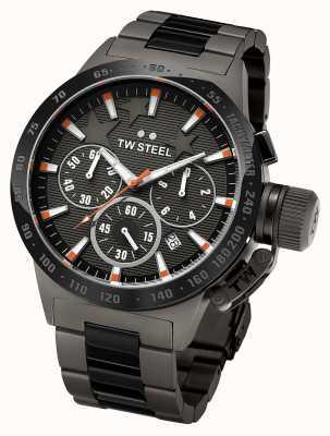 TW Steel Mens kantine donker titanium zwarte chronograaf TW313