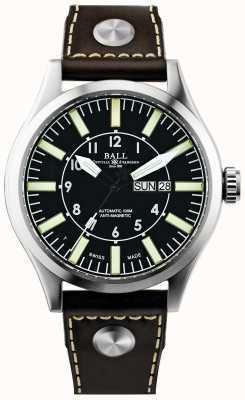 Ball Watch Company Mens ingenieur meester ii bedrijfsvliegtuig automatische leder NM1080C-L3-BK