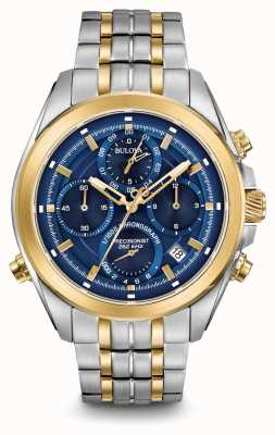 Bulova Mens precisionist chronograaf two tone 98B276