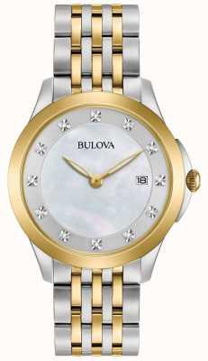 Bulova Womans vergulde two tone diamant 98S161