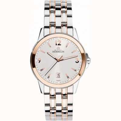 Michel Herbelin Heren ambassadeur steeg goud pvd armband horloge 12250/BTR12