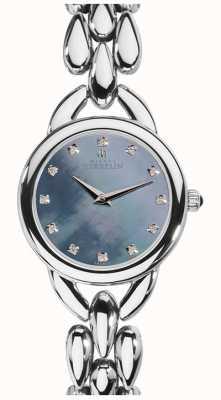 Michel Herbelin Womans waterval blauw parelmoer zirconia dial 17475/B60