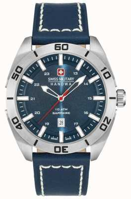 Swiss Military Hanowa Champ blauw lederen band 6-4282.04.003
