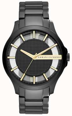 Armani Exchange Mens Black pvd verzinkt staal AX2192
