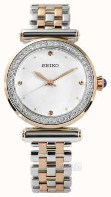 Seiko Vrouwen two tone rose goud SRZ466P1