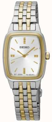 Seiko Vrouwen two tone tonneau SRZ472P1