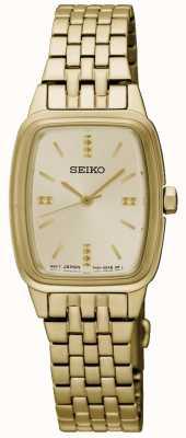 Seiko Womens verguld tonneau SRZ474P1