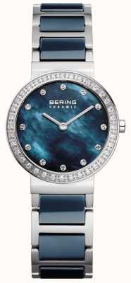 Bering Womans keramische blauwe roestvrij staal 10729-707