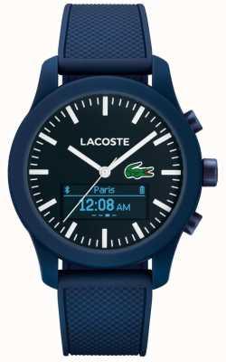 Lacoste Mens 12.12 contact bluetooth slimme horloge blauwe rubberen 2010882