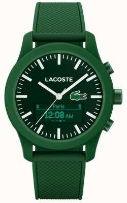 Lacoste Mens 12.12 contact bluetooth slimme horloge groen rubber 2010883