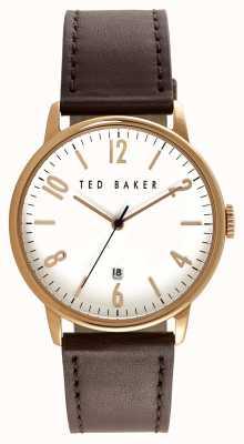 Ted Baker Heren roze gouden witte wijzerplaat TE10030651