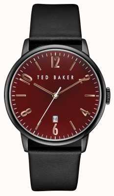 Ted Baker Mens zwart ijzer plated case TE10030754