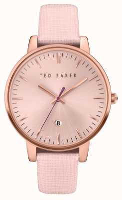 Ted Baker Womans rose gouden kast rose goud wijzerplaat TE10030737