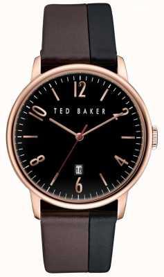 Ted Baker Mannen nam gouden kast, two-tone lederen band TE10030756