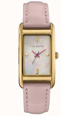 Ted Baker Womans rose gouden kast witte wijzerplaat TE10030751