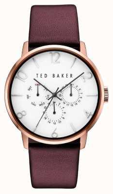 Ted Baker Heren multifunctionele wijzerplaat roze gouden hoesje TE10030765