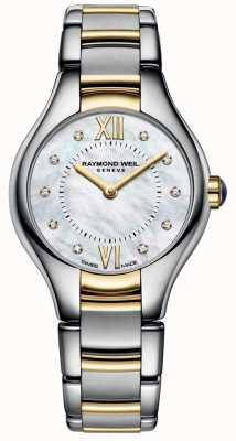 Raymond Weil Womans Noemia twee toon 10 diamant parelmoer dial 5124-STP-00985