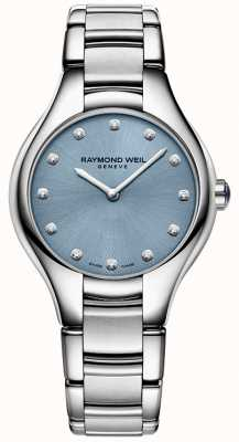 Raymond Weil Womans Noemia 12 diamond blauw 5132-ST-50081