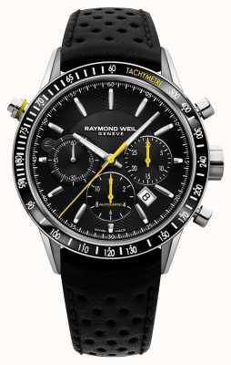 Raymond Weil Automatische zwarte chronograaf zwarte leren herenband 7740-SC1-20021