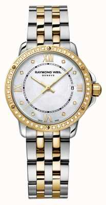 Raymond Weil Dames tango two tone diamond dot parelmoer 5391-SPS-00995