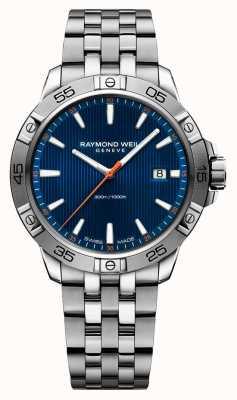 Raymond Weil Mens tango 41mm roestvrijstalen blauwe index dial 8160-ST2-50001