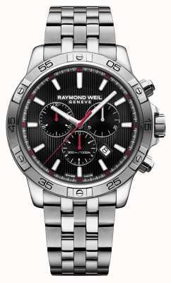 Raymond Weil Mens tango 43mm zwart chronograaf roestvrij staal 8560-ST2-20001