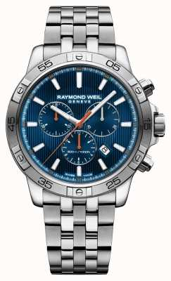 Raymond Weil Mens tango 43mm blauw chrongraph roestvrij staal 8560-ST2-50001