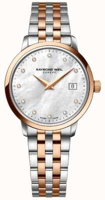 Raymond Weil Womans two tone rose goud diamanten dot 5988-SP5-97081