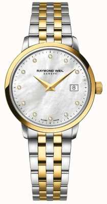 Raymond Weil Womans toccata twee toon goud diamant 5988-STP-97081