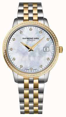 Raymond Weil Dames toccata horloge | tweekleurige roestvrijstalen / pvd band | 5988-STP-97081