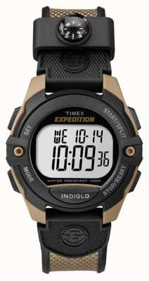 Timex Mens expeditie chronograaf alarm timer bruin TW4B07800