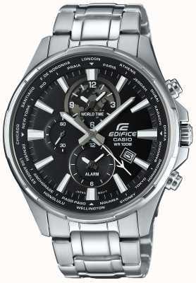 Casio Edifice roestvrij staal chronograaf, zwart gezicht EFR-304D-1AVUEF