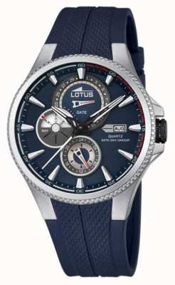 Lotus heren multifunctioneel horloge, blauwe rubberen band L18318/2