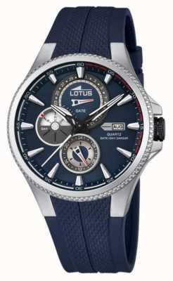 Lotus heren multifunctioneel horloge, blauwe rubberen band L18318/2