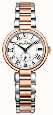 Dreyfuss dames two tone rose gouden horloge 1974 DLB00159/01/L